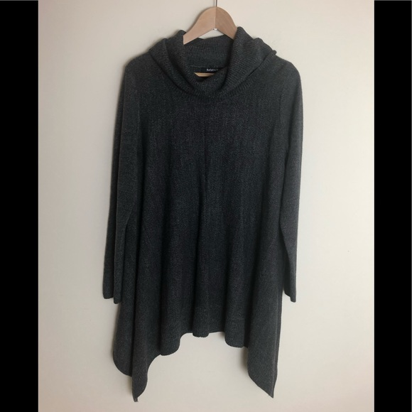 Relativity Sweaters - Relativity cow neck longsleeve sweater tunic